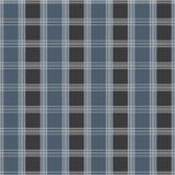 Modelo inconsútil del tartán Textura azul y gris de la tela de la falda escocesa stock de ilustración
