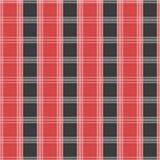 Modelo inconsútil del tartán Textura roja y gris de la tela de la falda escocesa ilustración del vector