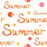 Modelo inconsútil del texto del verano Fotos de archivo libres de regalías