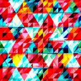 Modelo inconsútil del triángulo brillante ilustración del vector