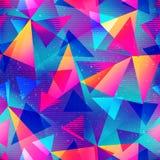 Modelo inconsútil del triángulo del color del arco iris libre illustration