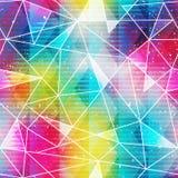 Modelo inconsútil del triángulo del arco iris stock de ilustración