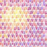 Modelo inconsútil del triángulo del dibujo Imagen de archivo