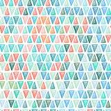 Modelo inconsútil del triángulo del dibujo Fotografía de archivo