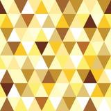 Modelo inconsútil del triángulo del oro abstracto. Imágenes de archivo libres de regalías