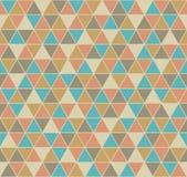 Modelo inconsútil del triángulo en colores del vintage ilustración del vector