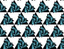 Modelo inconsútil del triángulo, fondo Fotografía de archivo