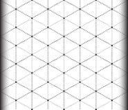 Modelo inconsútil del triángulo y del hexágono Imagenes de archivo