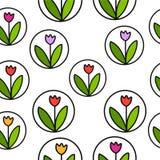 Modelo inconsútil del tulipán libre illustration