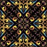 Modelo inconsútil del vector étnico del estilo del bordado Floral colorido libre illustration