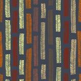 Modelo inconsútil del vector aborigen incluyendo las hojas multicoloras enthnic como fondo o textura Imágenes de archivo libres de regalías