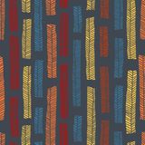 Modelo inconsútil del vector aborigen incluyendo las hojas multicoloras enthnic como fondo o textura Fotografía de archivo libre de regalías