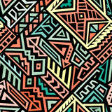 Modelo inconsútil del vector abstracto en estilo étnico Imagen de archivo libre de regalías