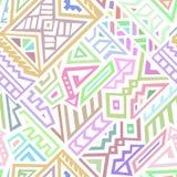 Modelo inconsútil del vector abstracto en estilo étnico Fotos de archivo libres de regalías