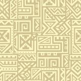 Modelo inconsútil del vector abstracto en estilo étnico Fotos de archivo