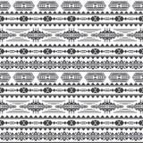 Modelo inconsútil del vector azteca de la cultura Fondo sin fin del maya mexicano ilustración del vector