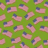 Modelo inconsútil del vector: Banderas americanas Imagen de archivo libre de regalías