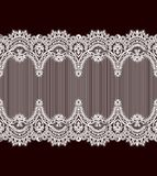 Modelo inconsútil del vector blanco del cordón fotografía de archivo libre de regalías