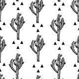 Modelo inconsútil del vector del cactus con el saguaro libre illustration