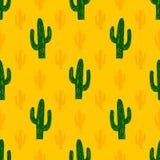 Modelo inconsútil del vector con el cactus suculento libre illustration