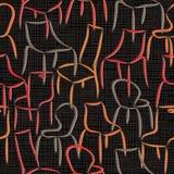 Modelo inconsútil del vector con el extracto de las butacas Imagen de archivo libre de regalías