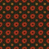 Modelo inconsútil del vector con formas simples de la flor en rojo y anaranjado libre illustration