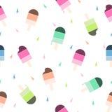 Modelo inconsútil del vector con helado colorido Imagenes de archivo