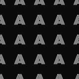 Modelo inconsútil del vector con la letra A Fotos de archivo