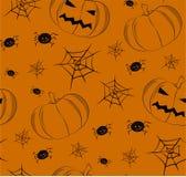 Modelo inconsútil del vector con las calabazas de Halloween Imágenes de archivo libres de regalías