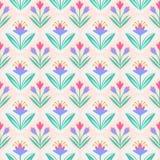 Modelo inconsútil del vector con las flores Fotografía de archivo libre de regalías