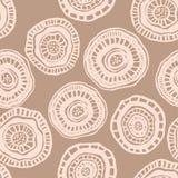Modelo inconsútil del vector con las flores beige del aborigen Fotos de archivo libres de regalías