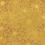 Modelo inconsútil del vector con las flores Ejemplo del fondo floral Imágenes de archivo libres de regalías