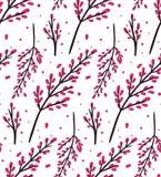 Modelo inconsútil del vector con las flores estilizadas de Sakura Fotografía de archivo libre de regalías