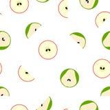 Modelo inconsútil del vector con las frutas simples geométricas Foto de archivo libre de regalías
