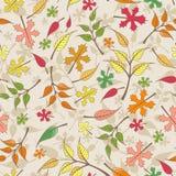 Modelo inconsútil del vector con las hojas de otoño Imágenes de archivo libres de regalías
