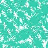 Modelo inconsútil del vector con las hojas de palma estilizadas ilustración del vector