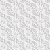 Modelo inconsútil del vector con las hojas y las bayas grises ilustración del vector