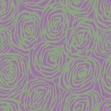 Modelo inconsútil del vector con las rosas decorativas Fondo floral hermoso del fondo… con las flores coloridas Contexto blando Foto de archivo