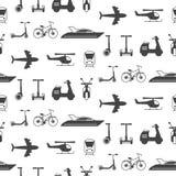 Modelo inconsútil del vector con las siluetas de los iconos del transporte libre illustration