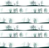 Modelo inconsútil del vector con los árboles del invierno Fotos de archivo