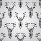 Modelo inconsútil del vector con los ciervos Fotografía de archivo libre de regalías