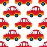Modelo inconsútil del vector con los coches de la historieta ` S Toy Car del muchacho del vector Ejemplo inconsútil del vector de Imagen de archivo libre de regalías