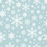 Modelo inconsútil del vector con los copos de nieve Imagen de archivo libre de regalías