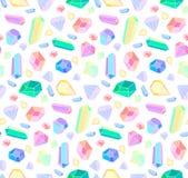 Modelo inconsútil del vector con los diamantes y la joyería ilustración del vector