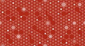 Modelo inconsútil del vector con los elementos de la Navidad Imagen de archivo