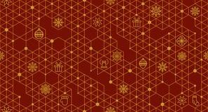 Modelo inconsútil del vector con los elementos de la Navidad Imagen de archivo libre de regalías