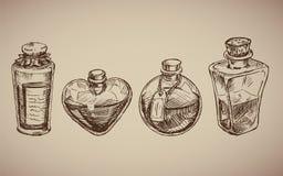 Modelo inconsútil del vector con los frascos de cristal Imagenes de archivo