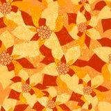 Modelo inconsútil del vector con los lirios anaranjados Ejemplo del fondo floral Fotos de archivo libres de regalías