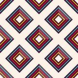 Modelo inconsútil del vector con los Rhombus multicolores Imagen de archivo libre de regalías