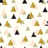 Modelo inconsútil del vector con los triángulos del color Fotografía de archivo libre de regalías